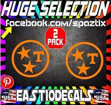 Tennessee tri-star vinyl car sticker decal ut vols pair