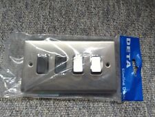 10a 4 gang 2 way switch satin chrome