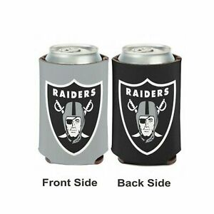 Licensed Football 2 Sided 12 oz Raiders Can Cooler Collapsible Koozie