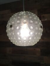RETRO 60'S 70'S BUBBLED PLASTIC SPHERE GLOBE BALL LIGHT LAMP SHADE MCM SPUTNIK