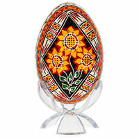Sunflowers Goose Size Real Blown Out Ukrainian Easter Egg 3.1 Inches
