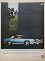 1969 Cadillac Fleetwood El Dorado Car Photo Blue Vintage Print Ad