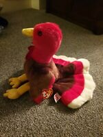 Ty Beanie Baby Gobbles The Turkey With Tag 1996 Soft plush Cuddly Toy Retired