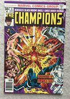 CHAMPIONS #8 Oct. 1976 VF (8.0) Comic Hercules Black Widow Iceman Ghost Rider