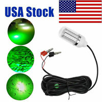 Green 12V Underwater Submersible Night Fishing Light Boat Attract Fishes 108-LED