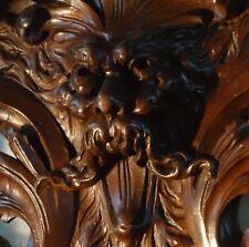 19C Gothic Fantasy Myth Carved Oak Cabinet Winged Griffin/Gargoyle/Dragon