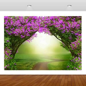 Nature Lilac Purple Flowers Magic 3D Mural Decal Wall Sticker Poster Vinyl S234