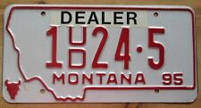 Montana 1995 SILVER BOW COUNTY USED CAR DEALER License Plate # 1 24-5