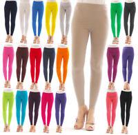 Damen lange Leggings Leggins lang Baumwolle Hose Herren Wäsche Hauteng