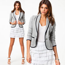 FASHION LADIES SMART FITTED BLAZER WOMENS SUIT JACKET CASUAL OFFICE TOP UK 6-16