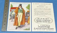 CHROMO 1950 GRANDE IMAGE BON-POINT BLEDINE COSTUME MACULIN RESTAURATION 1822