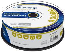 MediaRange MR221 25 X Cd-r 800 MB (90 Min) Spindel D