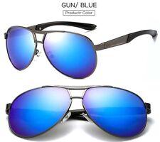 Men's Polarized Metal Sunglasses Drving Eyewear Retro Pilot Outdoor Glasses