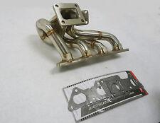 OBX T4 Turbo Header Manifold Exhaust Fits 89-99 Talon Eclipse 4G63T 1G 2G