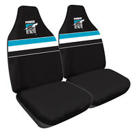 AFL Front Car Seat Covers - Port Adelaide Power - Set Of 2 One Size Fits All