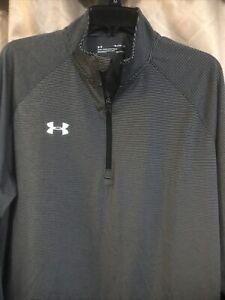 Under Armour Men's Loose Fit Heat Gear Long Sleeve 1/4 Zip Pullover XL