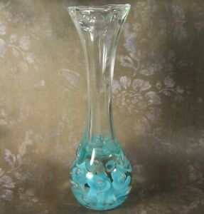 Vintage St. Clair Flower & Bubble Bud Vase Paperweight