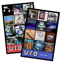 "UFO twin pack discography magnet set (two 4.75"" x 3.75"" magnets) salentino cuts"
