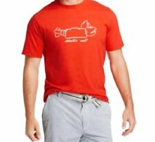 Izod Mens Casual T Shirt Sz XL High Risk Red Lobster Roll Short Sleeve Graphic