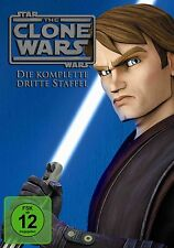 STAR WARS THE CLONE WARS completo Temporada 3 NEW 5 DVD ' s Animación