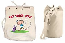 EAT SLEEP GOLF DUFFLE BAG - Golfing Gift Present College Rucksack Gym Backpack