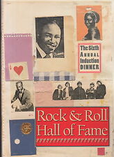 rock & roll hall of fame 1991 induction dinner program w/cd the byrds