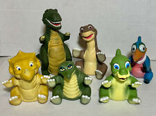 Vintage 1988 Pizza Hut The Land Before Time Dinosaur Puppets Figures Full Set