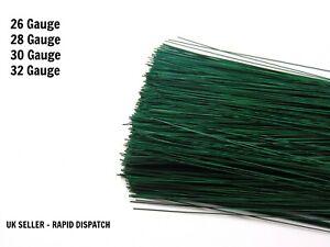 "200 Stems 7"" Green Oasis Stub Wire  24 26 28 swg Florist Craft FLOWER UK SELLER"