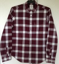 GAP LONG SLEEVED BURGUNDY CHECKED MENS SHIRT SIZES/M