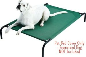 FRISCO Replacement Cover for Steel-Framed Elevated Pet Bed, Green, Small