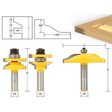 "3 Bit Raised Panel Cabinet Door Router Bit Set 1/2"" Shank Wood Work Cutter Bits"
