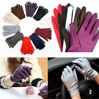 Multi-purpose  Evening  Party  Wedding  Formal  Prom  Stretch  Satin Glove Women