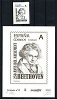 Engraving Barnafil 2020 nº 12 Beethoven custom stamp Spain