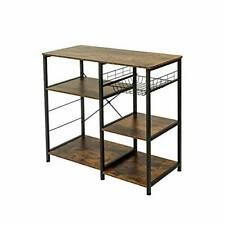 Industrial Kitchen Rack, Coffee Bar, Microwave Stand 35.4inches Rustic Brown