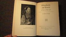 Lytton Strachey- Elizabeth and Essex- 1st Edition 6th Printing 1928 Hardcover VG
