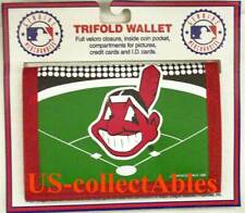 MLB Baseball CLEVELAND INDIANS TRIFOLD WALLET Souvenir Sports Collectible Gift