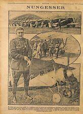 Lieutenant Charles Nungesser Avion Nieuport 17 tête de mort la Somme  WWI 1916