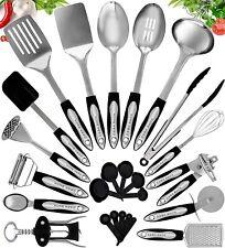 New Listing25 Piece Kitchen Utensil Set, Stainless Steel Kitchen Cooking Utensils Nonstick