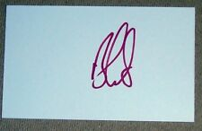 BEN CURTIS GOLF AUTOGRAPH HAND SIGNED INDEX CARD