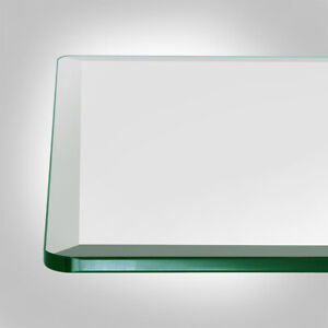 """26"""" x 52"""" Inch Rectangle Clear Tempered Glass Table Top 1/4"""" thick - Bevel Edge"""