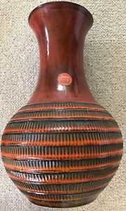 Top-Tipp! JASPA Beautiful Floor Vase IN Brauntönen Mit Blumen-Halter 15 11/16in