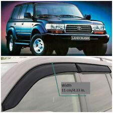 Wide Window Visors Side Guard Vent Deflectors For Toyota Land Cruiser 80 89-98
