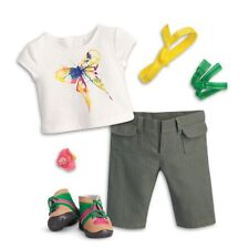 """American Girl Lea's Rain Forest Hike Outfit for 18"""" Doll Hiking W/ Boots Set NEW"""