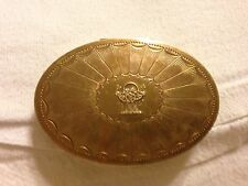 Oval Brass Compact Cara Nome Langlois Boston