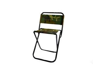 Sgabello pieghevole per pesca campeggio fantasia mimetica sedia militare max 85