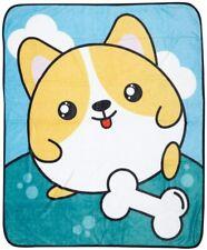 "Chubbeez Corgi Cute Dog Throw Blanket 50"" x 60"" (New)"