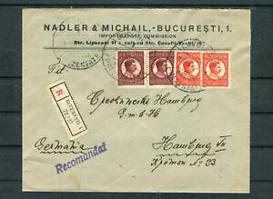 Dekoratives Einschreiben 4+6 Lei MiF Bucharest-Hamburg - b6687