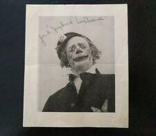 "Jack ""Jughead"" LaPeare Clown Picture and Signature / Autograph"