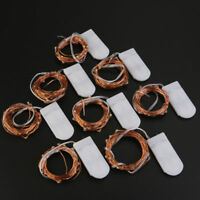 8 Pack 2M 20 LEDs Battery Operated Mini LED Copper Wire String Fairy Lights