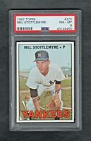 1967 TOPPS #225 MEL STOTTLEMYRE NEW YORK YANKEES PSA 8.0 NM/MT++CENTERED!